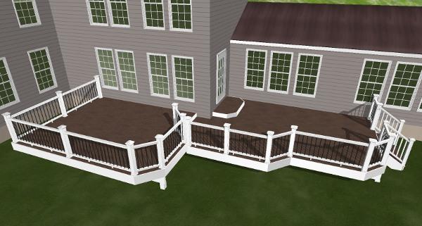 3d rendering of custom deck
